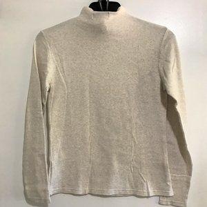 Pierre Cardin Long Sleeve Hi Neck Tee Beige Sz S